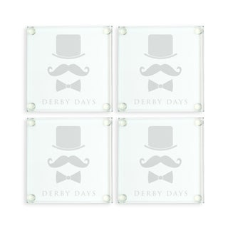 Kentucky Derby Glass Coasters (Set of 4)