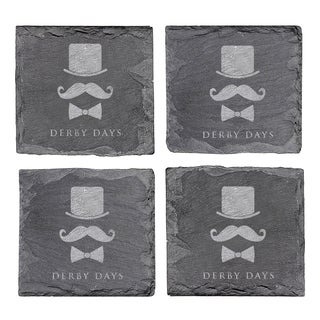 Kentucky Derby Slate Coasters (Set of 4)