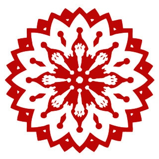 Indian Pattern Mandala Red Sticker Vinyl Wall Art