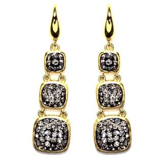 14k Gold over Sterling Silver Black Crystal Triple Square Drop Earrings|https://ak1.ostkcdn.com/images/products/10069518/P17213752.jpg?impolicy=medium