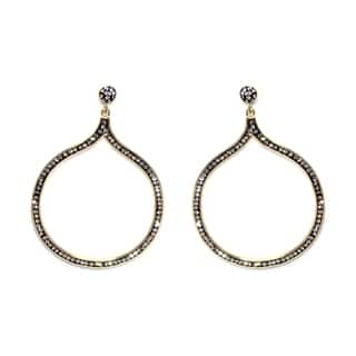 14k Gold over Sterling Silver Black Crystal Abstract Circle Open Earrings|https://ak1.ostkcdn.com/images/products/10069522/P17213756.jpg?impolicy=medium