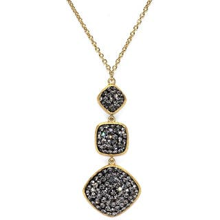14k Gold Over Sterling Silver Black Crystal Square and Diamond Shape Necklace|https://ak1.ostkcdn.com/images/products/10069524/P17213758.jpg?impolicy=medium