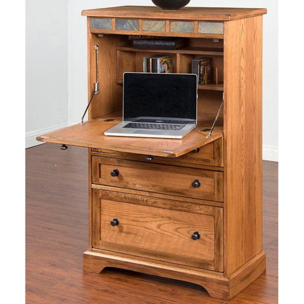 Sunny Designs Sedona Oak Laptop Armoire