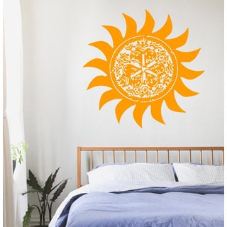 Yellow Sun Mandala Sticker Vinyl Wall Art