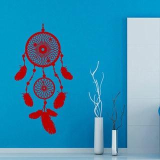 Red Dreamcatcher Sticker Vinyl Wall Art
