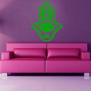Green Hamsa Fatima Hand Sticker Vinyl Wall Art