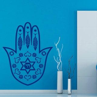 Blue Hamsa Fatima Hand Sticker Vinyl Wall Art