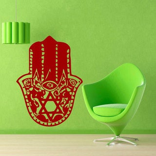 Hamsa Fatima Hand Sticker Red Vinyl Wall Art