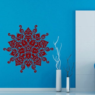 Mandala Namaste Sticker Red Vinyl Wall Art