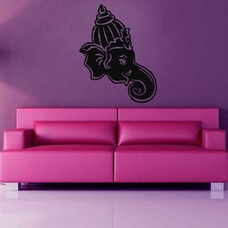 Ganesha Elephant Side-facing Vinyl Wall Art