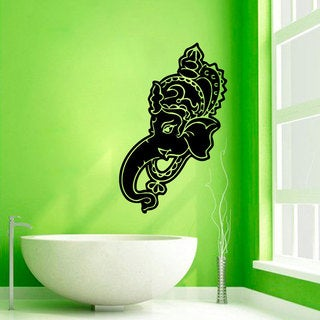 Ganesha Elephant Left-facing Vinyl Wall Art