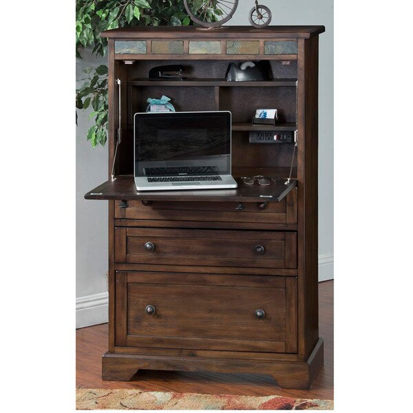 sunny designs savannah walnut laptop armoire - Sunny Designs Desk