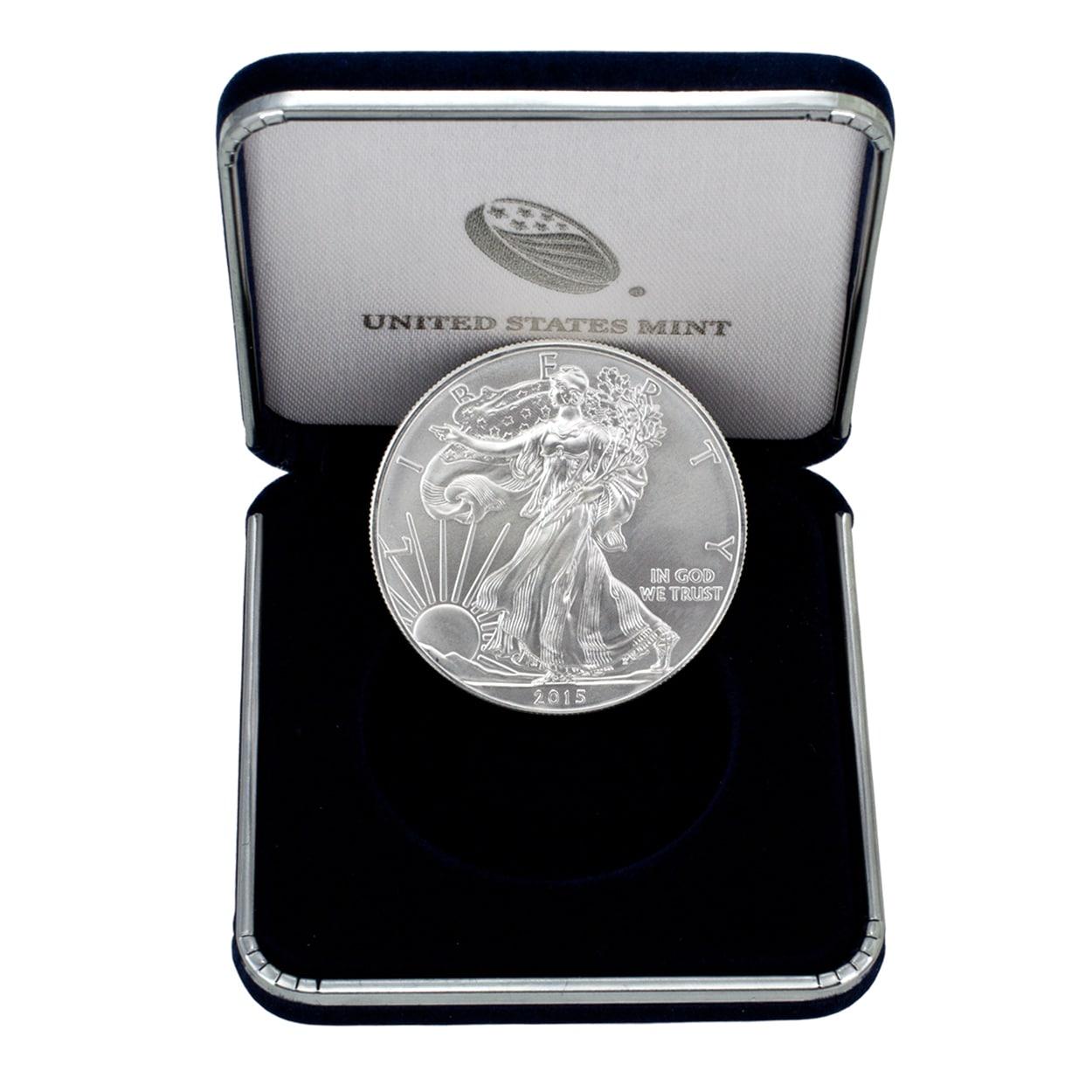 Antwerp US Treasury 1-ounce Silver American Eagle Coin (1...
