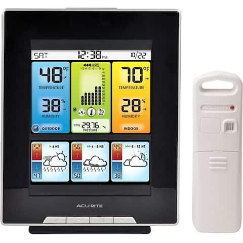 AcuRite Color Weather Station with Morning, Noon & Night Forecast