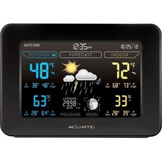 AcuRite Color Weather Station, Dark Theme
