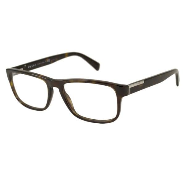 Shop Prada Men\'s PR07PV Rectangular Optical Frames - Free Shipping ...