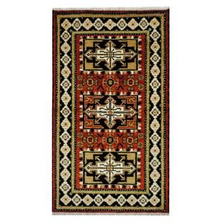 Handmade One-of-a-Kind Kazak Wool Rug (India) - 3'1 x 5'2