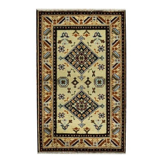 Handmade One-of-a-Kind Kazak Wool Rug (India) - 3'1 x 4'10