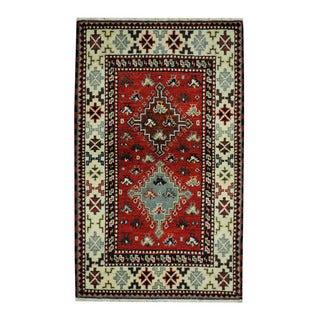 Herat Oriental Indo Hand-knotted Tribal Kazak Wool Rug (3'2 x 5'2)