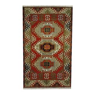 Herat Oriental Indo Hand-knotted Tribal Kazak Wool Rug (3'1 x 5'1)