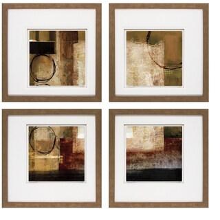 Keith Mallett- Manhattan Melody 20 x 20 Set of 4 Framed Art Print