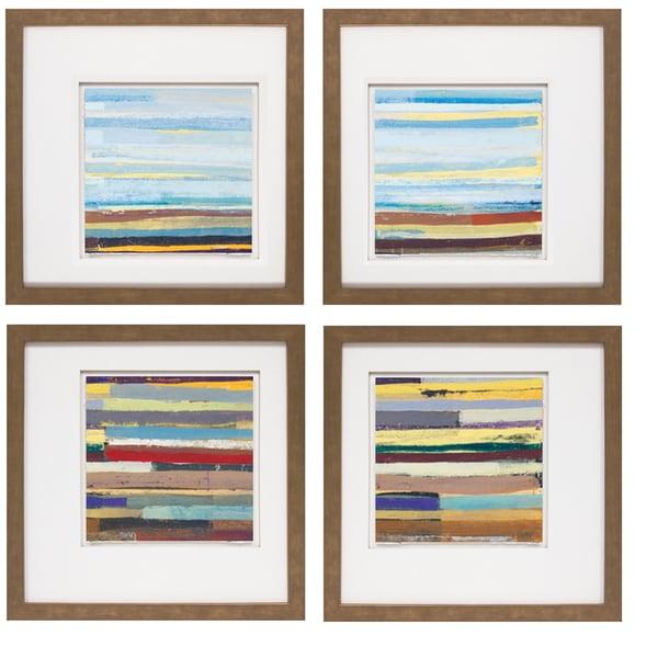 David Bailey- Landform I 20 x 20 Set of 4 Framed Art Print