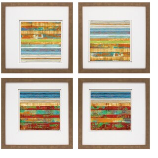 Kevin Misner-New Lines II 20 x 20 Set of 4 Framed Art Print