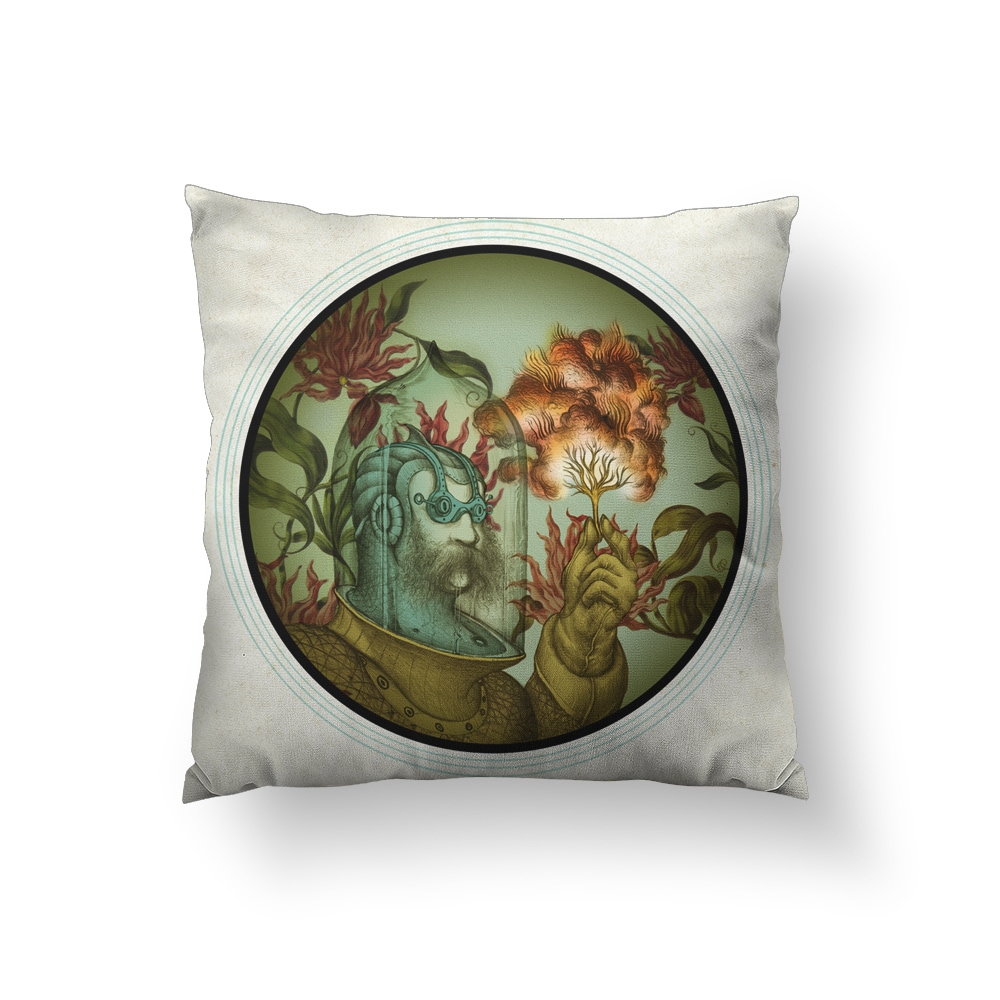 Caliope Square Polyester Throw Pillow (Medium - 18 x 18)