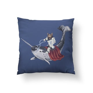 Sir Catspian Square Polyester Throw Pillow