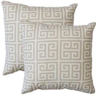 Premiere Home Greek Key 17-inch Throw Pillow - Set of 2