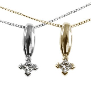Michael Valitutti 14k Gold Diamond Pendant 1/10 Total Weight, I-J Color, I1-I2 Clarity, (2 options available)
