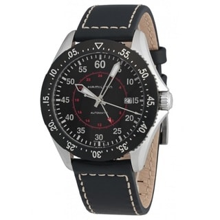 Hamilton Men's H76755735 Khakhi Aviation Black Watch