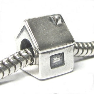 Queenberry Sterling Silver House European Bead Charm