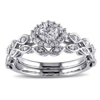 Miadora 10k White Gold 1/2ct TDW Diamond Bridal Ring Set (G-H, I2-I3) https://ak1.ostkcdn.com/images/products/10071456/P17215475.jpg?_ostk_perf_=percv&impolicy=medium