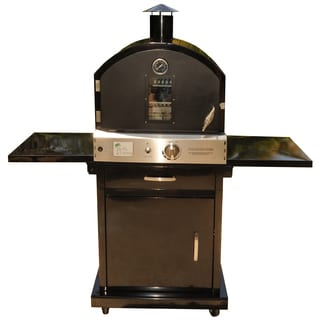 Pacific Living Black Powder Coat Protected Outdoor Gas Oven with Cart