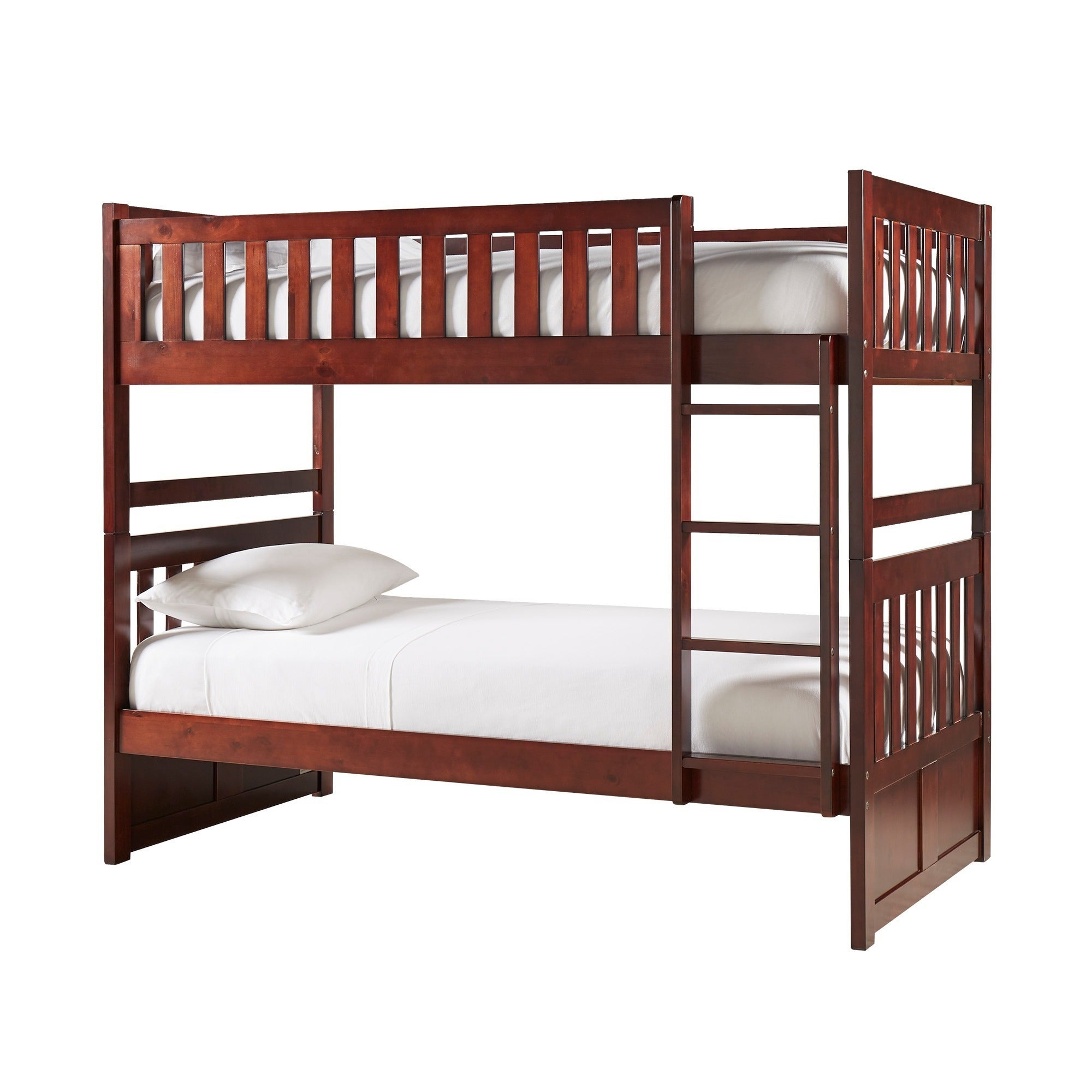 Hunter Traditional Dark Cherry Wood Bunk Bed And Trundle ...