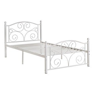 adrian twin metal platform bed by tribecca home