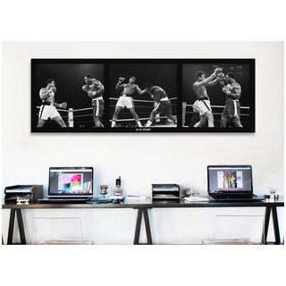 "iCanvas ""Muhammad Ali Vs. Frazier Canvas Print Wall Art"
