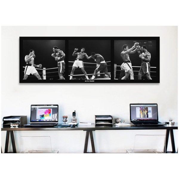shop icanvas muhammad ali vs frazier canvas print wall art on