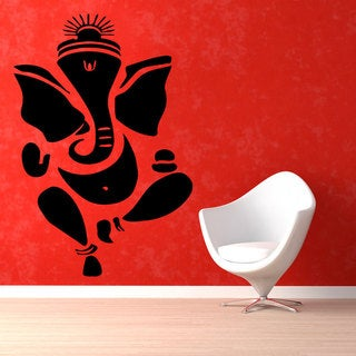 Light Blue Ganesha Elephant Vinyl Wall Art