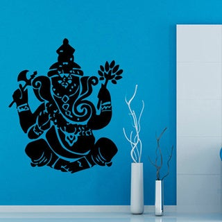 Ganesha Elephant Front-facing Vinyl Wall Art