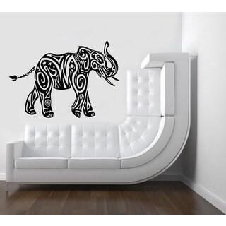 Black Elephant Vinyl Wall Art