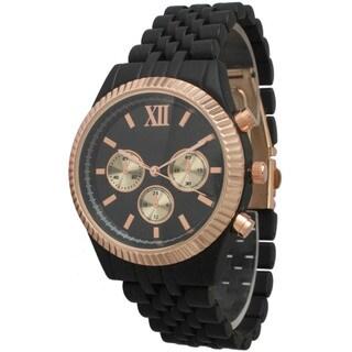 Olivia Pratt Women's Basket Link Boyfriend Bracelet Watch