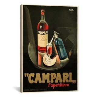 iCanvas Marcello Nizzoli Campari Aperitivo Advertising Vintage Poster Canvas Print Wall Art