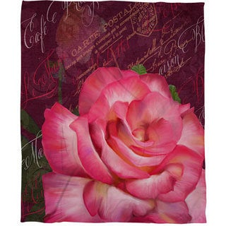 Thumbprintz Paris Bistro I Coral Fleece Throw