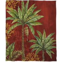 Palm Tree Fleece Throw