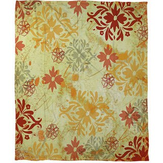 Palms Coral Fleece Throw