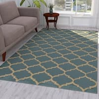 Ottomanson Royal Collection Moroccan Trellis Design Area Rug - 5' x 7'
