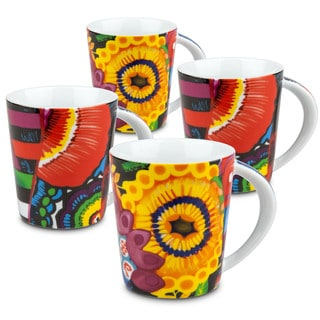 Konitz Power Art Mugs (Red and Yellow) (Set of 4)