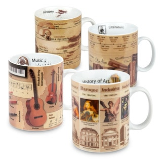 Konitz Assorted Mugs of Knowledge (Set of 4) (Literature, History, Music, Art)